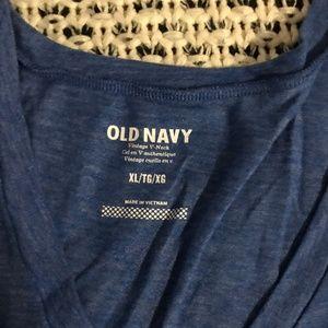 Old Navy Tops - Old Navy Vintage v-neck XL Shirt Blue heather